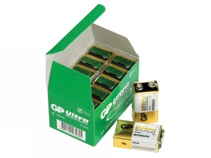 GP Ultra Alkaline 9V, 10-pack