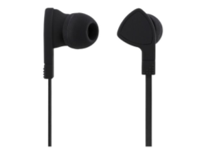 Streetz in-ear headset, svarsknapp, 3,5mm, mikrofon, svart